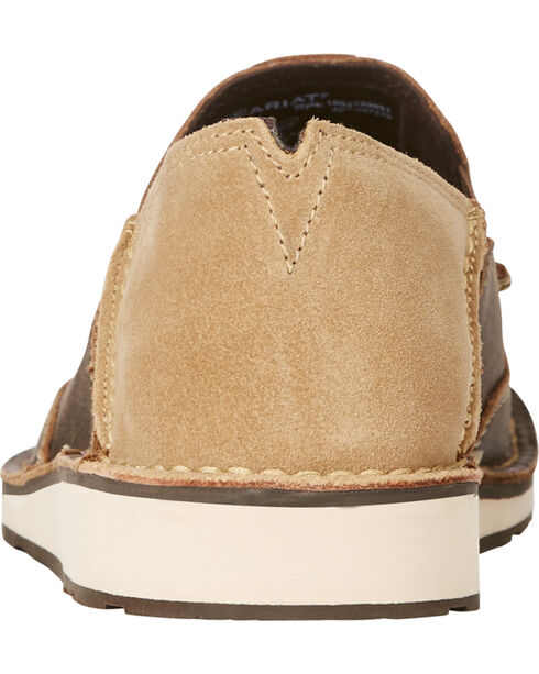 Ariat Men's Dark Brown Cruiser Vintage Bomber Sip-On Shoes , Dark Brown, hi-res