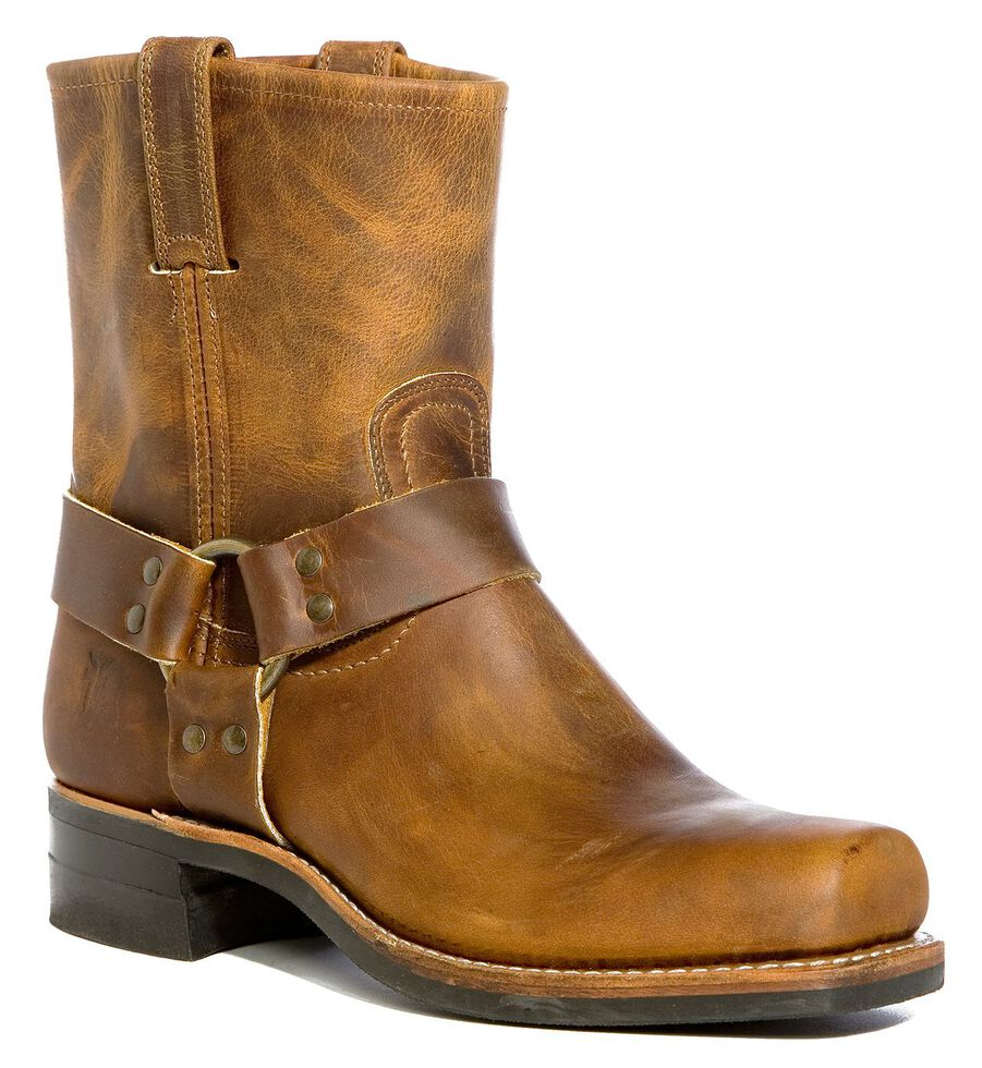 Frye Men's Belt Harness 8R Boots - Square Toe, Dark Brown, hi-res