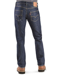 Levi's Men's 501 Original Prewashed Regular Straight Leg Jeans , Rinsed, hi-res