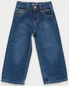 Cowboy Hardware Toddler Boys' Medium Wash Diamond Skull Embroidered Jeans , Blue, hi-res