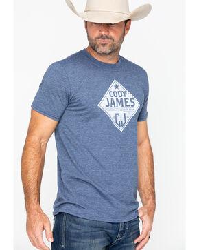 Cody James Men's Blue Diamond Badge Short Sleeve Shirt, Blue, hi-res