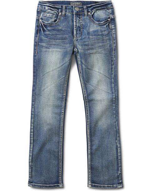 Silver Girls' Tammy Medium Wash Boot Cut Jeans, Indigo, hi-res