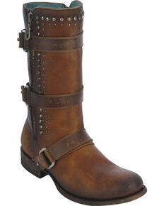 Corral Women's Studded Harness Strap Boots, Cognac, hi-res