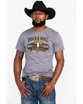 Panhandle Men's Steer Hood Ornament Muscle Car T-Shirt, Charcoal, hi-res