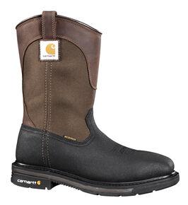 Carhartt Men's Wellington Work Boots - Steel Toe, Black, hi-res