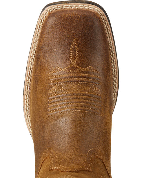 Ariat Women's Tan Round Up Walyon Old West Boots - Square Toe , Lt Brown, hi-res