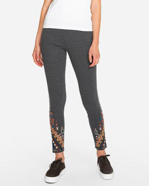 Johnny Was Women's Nala Leggings, Charcoal, hi-res