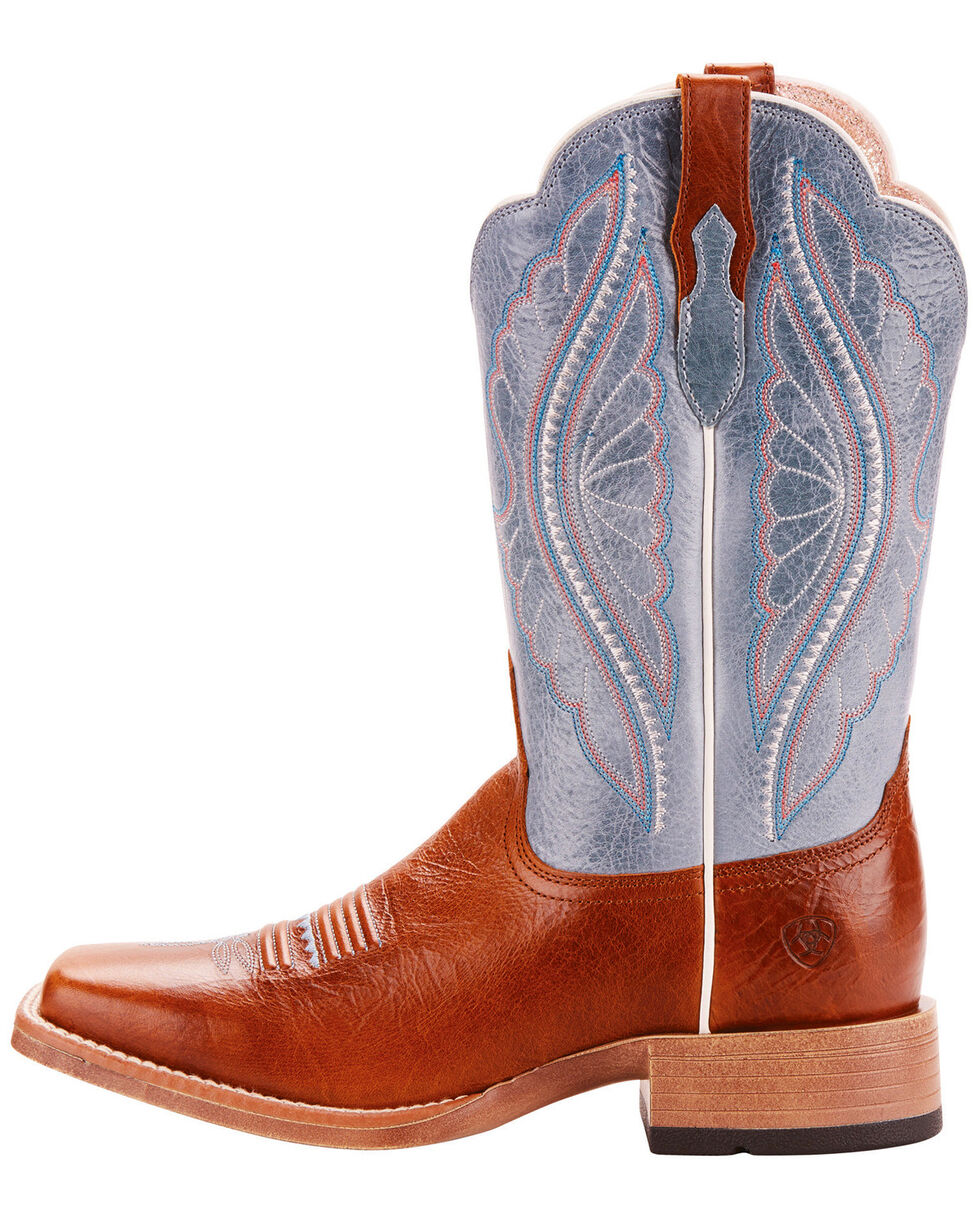 Ariat Women's Primetime Baby Blue Eyes Performance Cowgirl Boots - Square Toe, Brown, hi-res