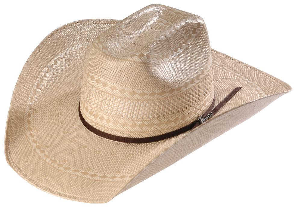Twister Men's Shantung Straw Diamond Cowboy Hat , Natural, hi-res