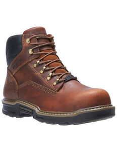 Wolverine Men's Raider II Work Boots - Soft Toe, Brown, hi-res