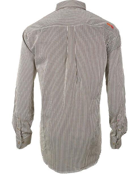 Ariat Men's Long Sleeve FR Work Shirt - Tall, Brown, hi-res