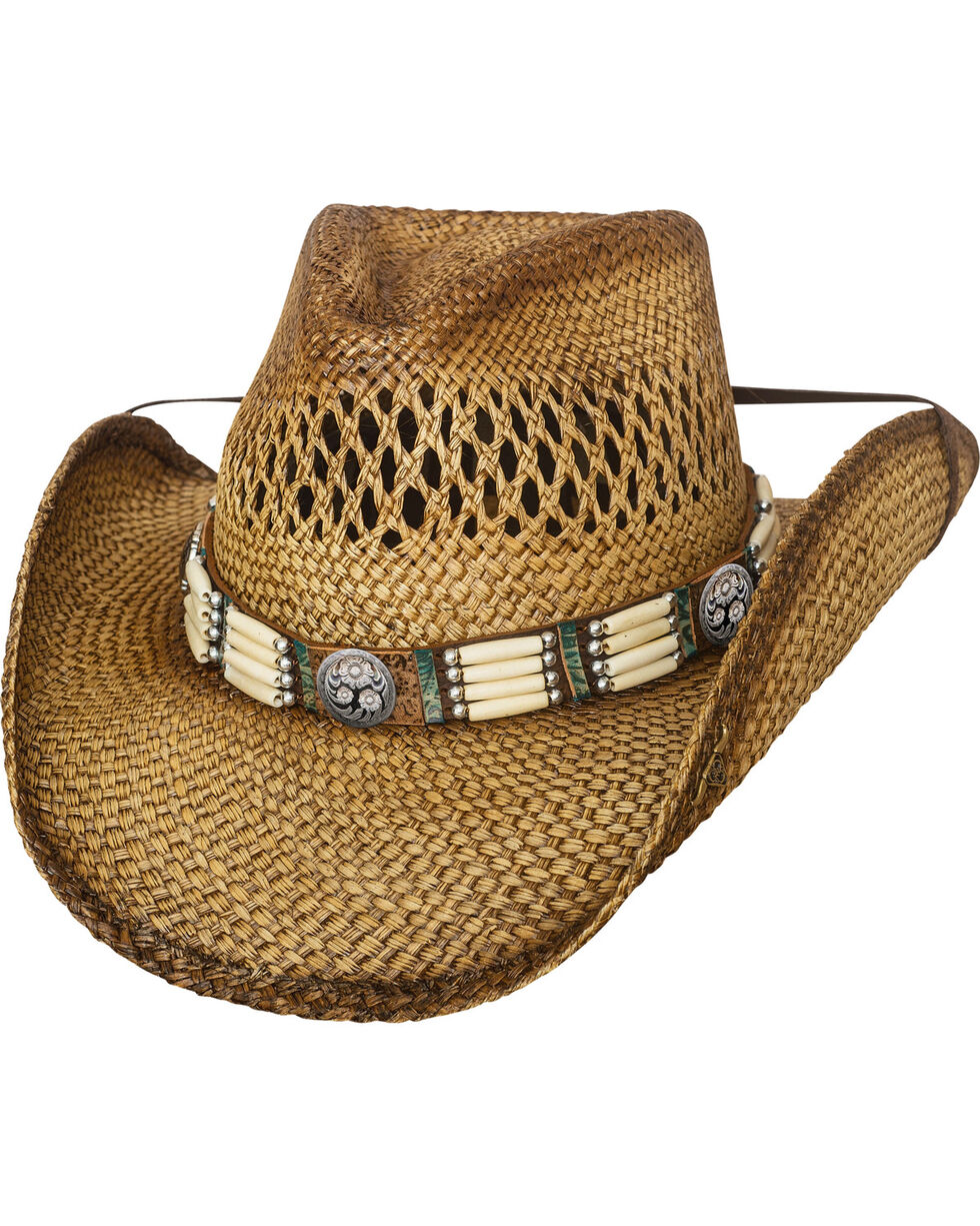 Bullhide From Dusk Till Dawn Straw Cowboy Hat , Natural, hi-res