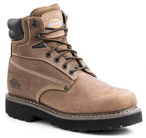 Dickies Men's Breaker Steel Toe Waterproof Boots, Brown, hi-res