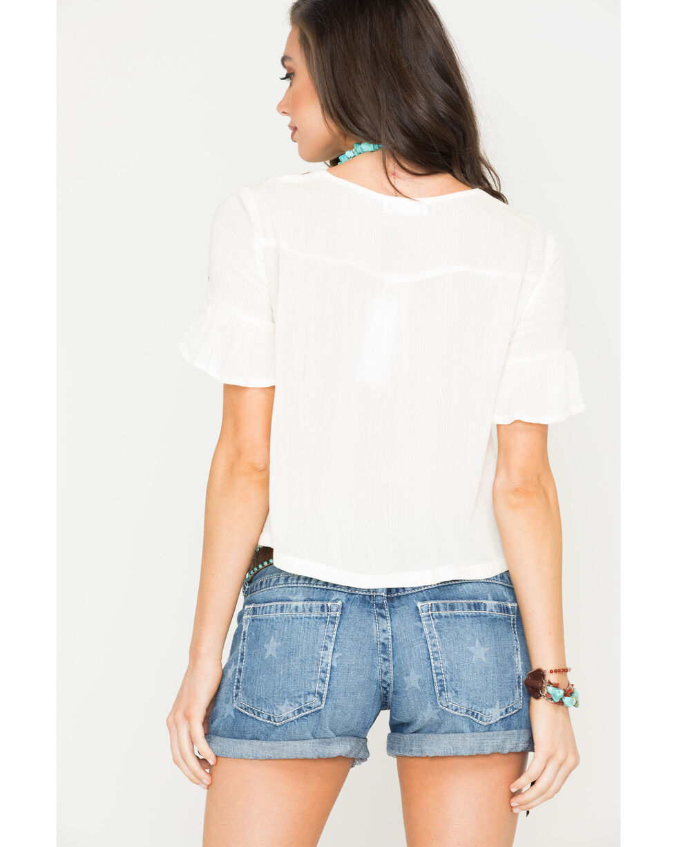 Sage the Label Women's Ivory Lana Blouse , Ivory, hi-res