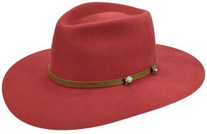 Renegade by Bailey Men's Sheik Red Felt Hat, Red, hi-res