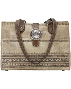 American West Women's Trading Post Shopper Tote, Sand, hi-res