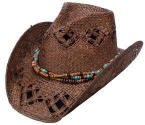 Charlie 1 Horse Tijuana Dance Straw Cowboy Hat, Brown, hi-res