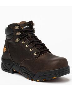 Hawx® Men's Chocolate Blucher Work Boots - Composite Toe, Brown, hi-res