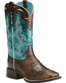 e7e332e39db7 Ariat Womens Chocolate Sidekick Western Boots - Square Toe