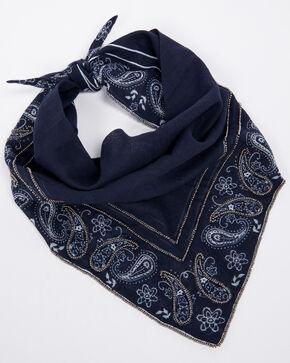 Idyllwind Women's Paisley Embellished Scarf, Navy, hi-res