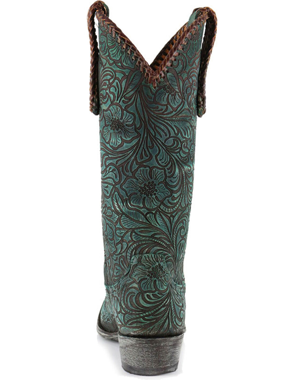 "Old Gringo Women's Turquoise Cassidy 13"" Western Boots - Snip Toe, , hi-res"