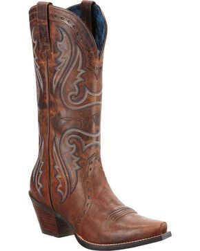 Ariat Heritage Western Cowgirl Boots - Snip Toe, Brown, hi-res
