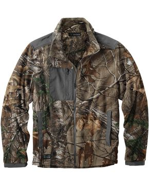 Dri Duck Men's Quest Microfleece Realtree Camo Jacket, Camouflage, hi-res