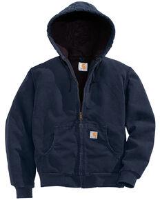 Carhartt Women's Active Duck Quilted Work Jacket, Navy, hi-res