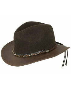 Outback Trading Co. Brown Canberra Wool Felt Western Hat , Brown, hi-res