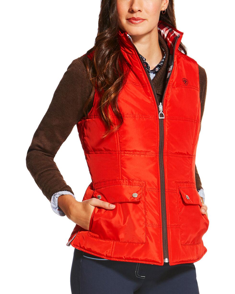 Ariat Women's Galway Plaid Reversible Vest, Multi, hi-res