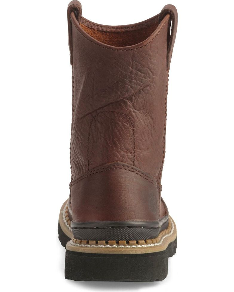 Georgia Boys' Little Georgia Giant Wellington Boots - Round Toe, Brown, hi-res