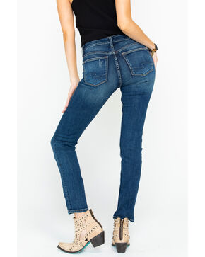 Silver Women's Avery High Rise Medium Slim Jeans , Indigo, hi-res