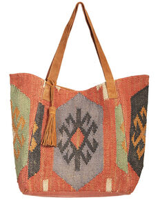 Scully Women's Woven Suede Trim Handbag, Multi, hi-res