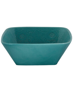 HiEnd Accents Savannah Serving Bowl, Turquoise, hi-res