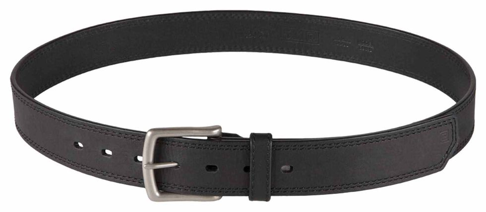 5.11 Tactical Arc Leather Belt, Black, hi-res