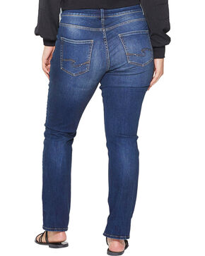 Silver Women's Elyse Dark Wash Straight Jeans - Plus, Indigo, hi-res