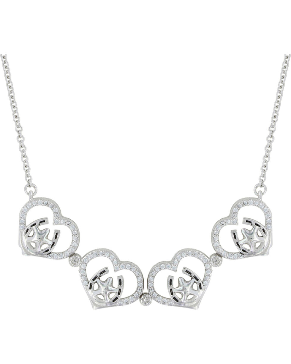 Montana Silversmiths Women's Convertible Star Of My Heart Necklace , Silver, hi-res