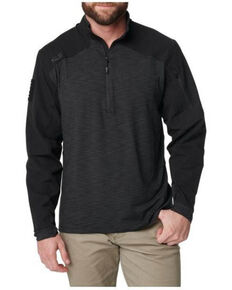 5.11 Tactical Men's Rapid Half Zip Pullover Shirt , Black, hi-res