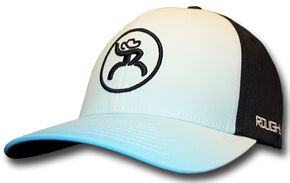 "HOOey Men's Roughy ""Bora"" White Cap, Black, hi-res"