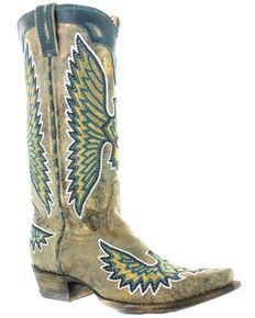 Old Gringo Women's Eagle Stitch Western Boots - Snip Toe, Sand, hi-res
