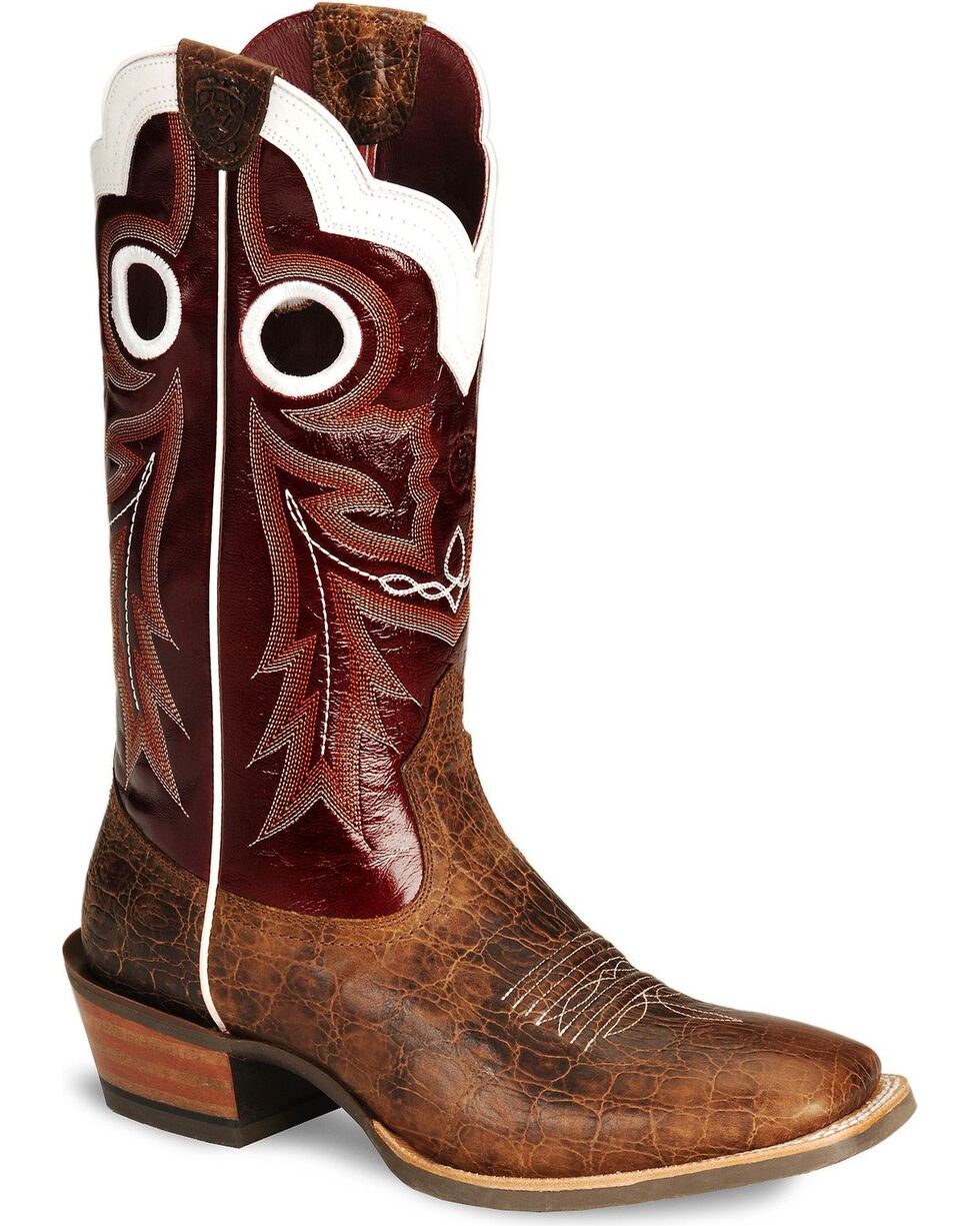 Ariat Wildstock Cowboy Boots - Wide Square Toe, Clay, hi-res