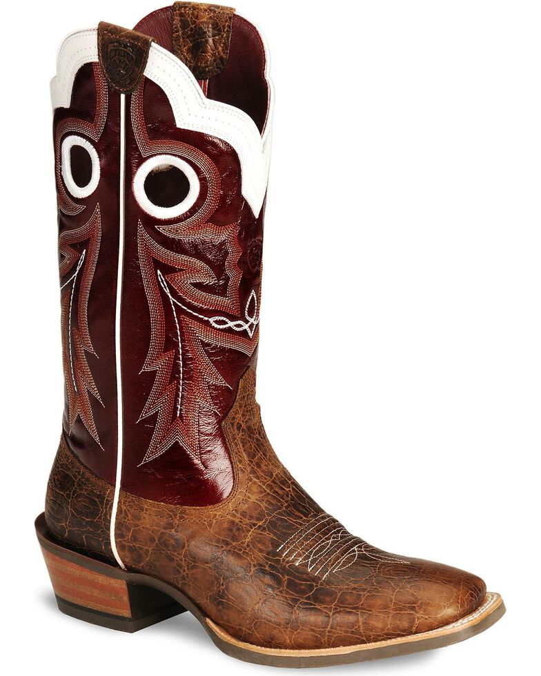 7131de73992 Ariat Wildstock Cowboy Boots - Wide Square Toe