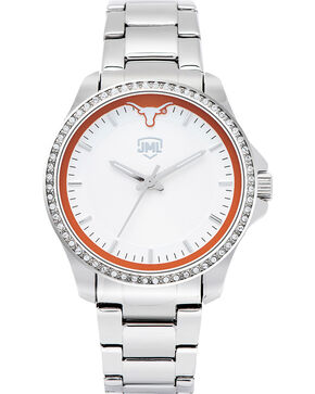 Jack Mason Women's Texas Glitz Sport Watch , Silver, hi-res