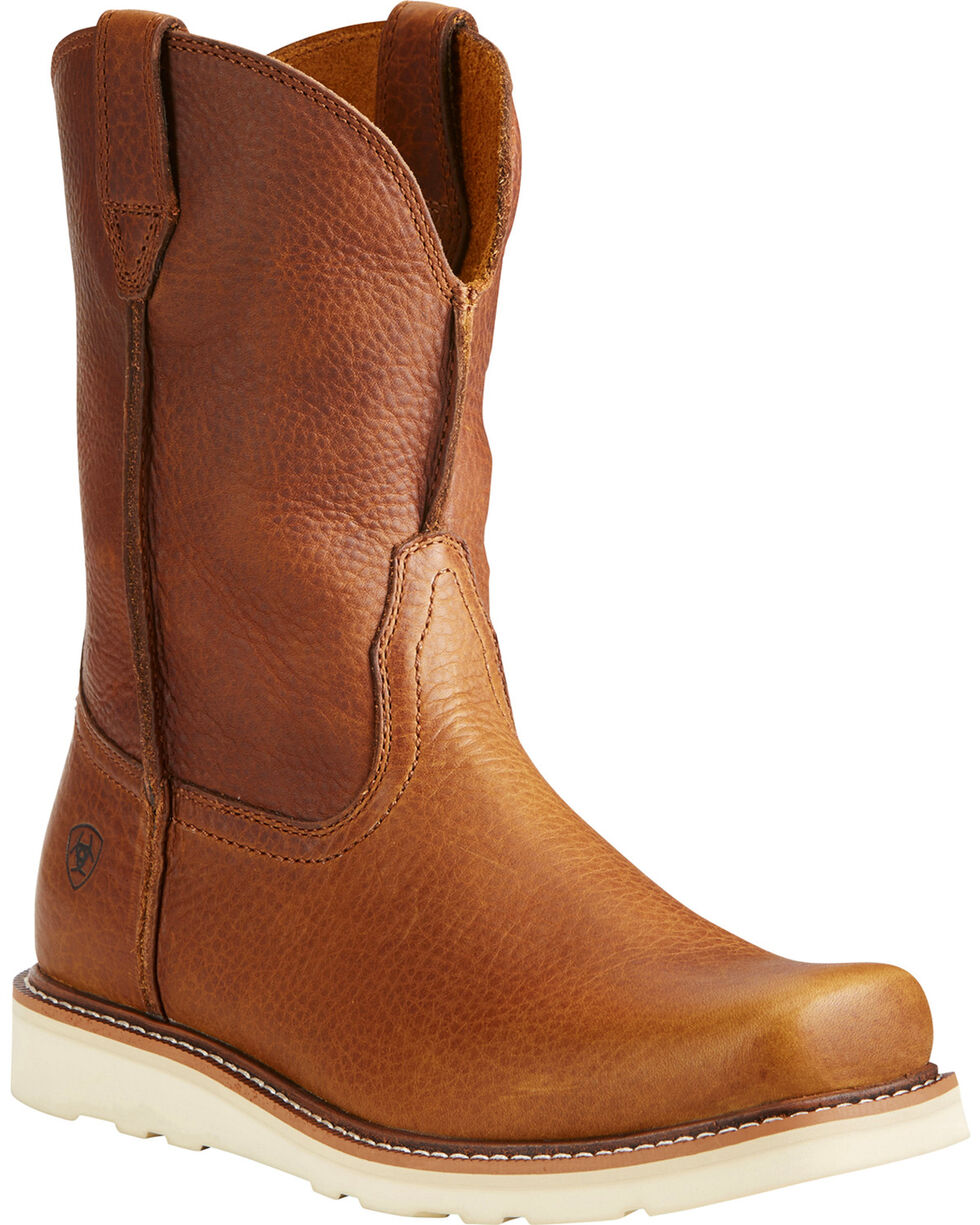 Ariat Men's Rambler Recon Golden Grizzly Western Boots - Square Toe, Brown, hi-res