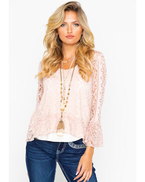 Shyanne Women's Lace Bell Sleeve Top , , hi-res