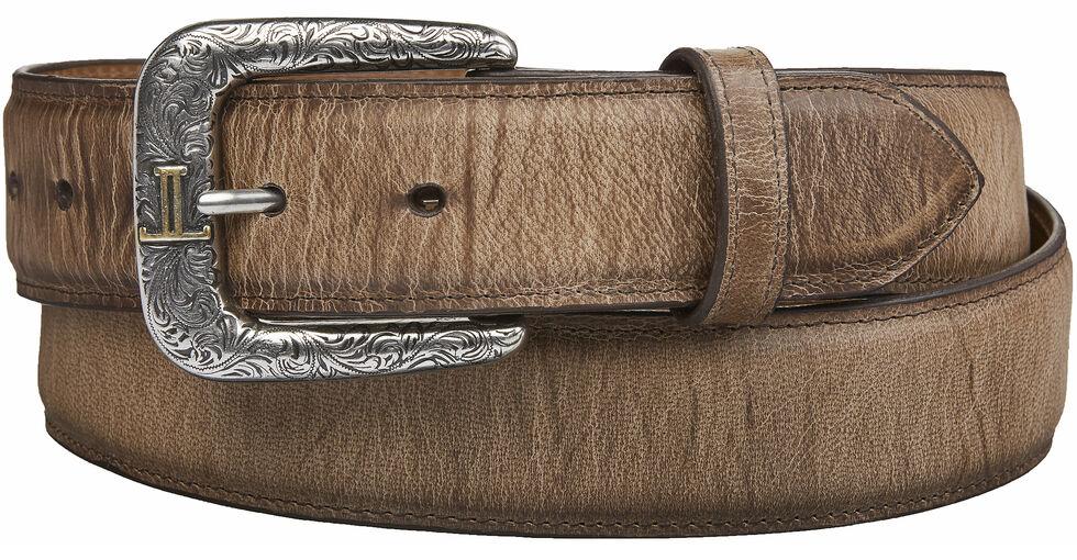 Lucchese Men's Tan Mad Dog Goat Leather Belt, Tan, hi-res