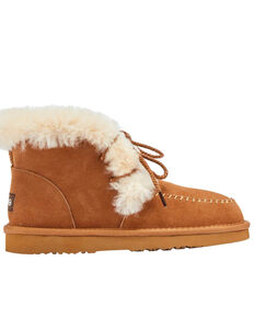 Lamo Footwear Women's Camille Chestnut Winter Boots - Moc Toe, Chestnut, hi-res