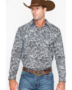 a1cbf5b88a98d Cody James Mens Cauldron Floral Print Long Sleeve Western Shirt