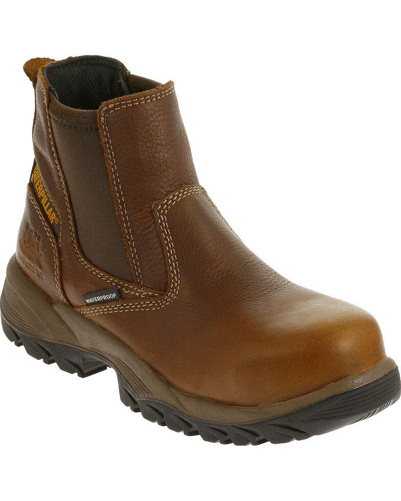 Caterpillar Women's Veneer Waterproof Work Boots - Composite Toe , Brown, hi-res