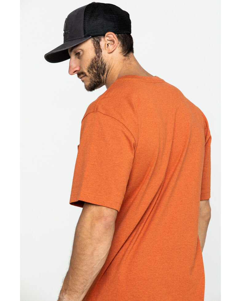 Carhartt Men's Peat Stripe Workwear Pocket Short-Sleeve Work T-Shirt, Bark, hi-res